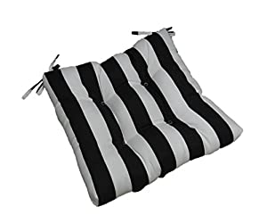indoor outdoor black and white stripe Black And White Striped Outdoor Seat Cushions id=31091