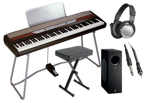 Korg SP-250 Digital Piano HOME BUNDLE+ w/ Subwoofer, Bench, Headphones