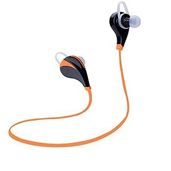 Bluetoothv4.0ワイヤレスヘッドホン 高音質 内蔵式マイク ノイズキャンセル機能 ハンズフリー通話 APT-X対応 防水防汗 iphone6 iphone6S iphone6Splus Sony xperiaX Sony xperiaZ5 Samsung Galaxy S7 Samsung Galaxy S6スマートフォンなどに対応(オレンジ)