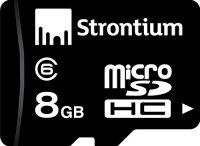 Strontium 8GB MicroSDHC Memory Card (Class 6)