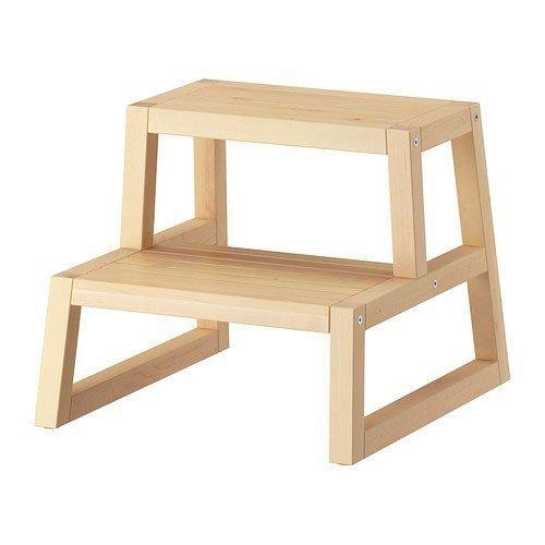 IKEA Tritthocker 'Molger' Tritt aus Massivholz – feuchtraumgeeignet – BxTxH 41x43x35 cm
