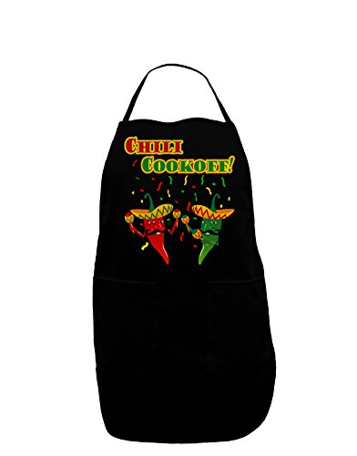 TooLoud Chili Cookoff! Chile Peppers Dark Adult Apron - Black - One-Size