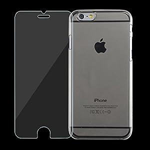 【0.33mm 強化ガラス+0.5mm クリアケース】iPhone6(4.7) ジェムガンスターターセット HI05SC601