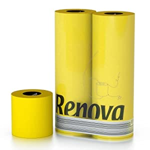 Renova gelbes Toilettenpapier in Folie GELB