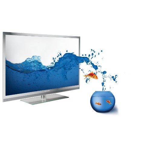 Grundig FineArts 55 FLE 9170 SL 140 cm (55 Zoll) 3D LED-Backlight-Fernseher, Energieeffizienzklasse A (Full HD, 400 Hz PPR, DVB-T/C/S2, 4x HDMI, USB 2.0, CI+) silber