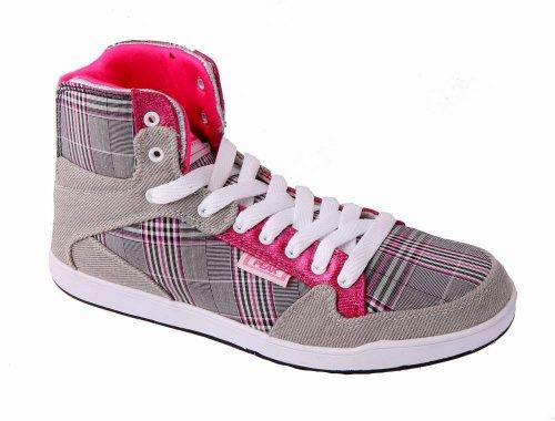 PEAK Sneaker Damen Square grau-rosa 41