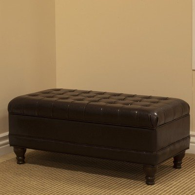 delux tufted leather bedroom storage ottoman review check price toolsert. Black Bedroom Furniture Sets. Home Design Ideas