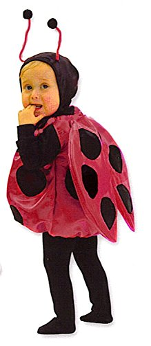 Toddler Ladybug Costumes - Red Satin Fits Child Wearing 18 Month - 3t