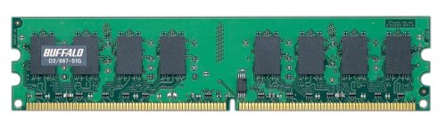 BUFFALO デスクトップPC用増設メモリ PC2-5300 (DDR2-667) 1GB D2/667-S1G/E