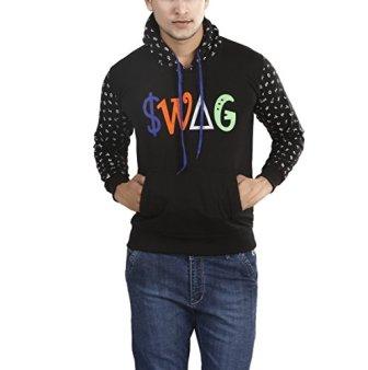Ico Blue Star Full Sleeve Printed Men's Sweatshirt (Black, 40)