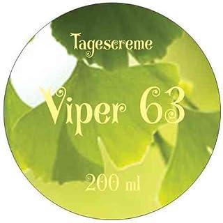 Viper63, Tagescreme gegen Falten, Feuchtigkeitscreme Antiagingeffekt pflanzlich Gingko