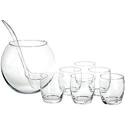 Bohemia Cristal 093/006/018 - Ponchera y vasos (8 piezas)