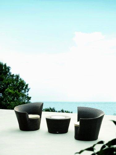 Design Loungemöbel - Set Soul, 2 Loungesessel + Beistelltisch inkl. Polster