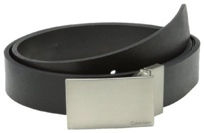Calvin-Klein-Mens-32mm-Reversible-Flat-Strap-Plaque-Buckle-With-Logo-Belt