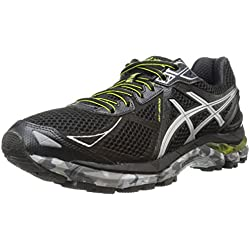 ASICS Men's Gt-2000 3 Trail Running Shoe,Black/Lightning/Lime,11 M US