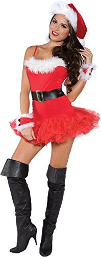 Underwraps Costumes Women's Sexy Christmas Costume - Naughty, Red/White/Black, Large