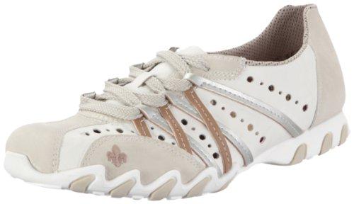 Rieker 49016-60, Damen Sneaker, Weiss (muschel/bianco/spiaggia/silver 60), EU 40