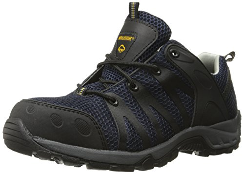 Wolverine Men's Amherst Comp Toe Trail Runner Work Boot, Navy, 8 M US
