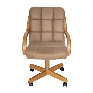 Casual Dining Cushion Swivel Tilt Rolling Caster Chair Chairs