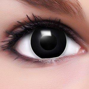 Farbige Kontaktlinsen Crazy Color Fun Contact Lenses 'Black Eyes' Topqualität