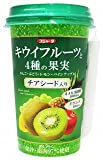 《冷蔵》 スジャータ めいらく キウイフルーツと4種の果実チアシード入り 240g×12本(1ケース)
