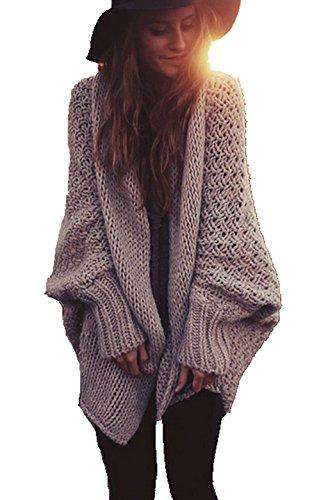 ASSKDAN Damen Lange Windbreaker Baumwolle Loose Strickjacke Mantel Pullover Outwear Cardigan