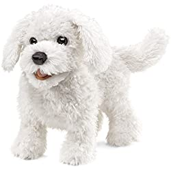 Folkmanis Maltese Dog Hand Puppet