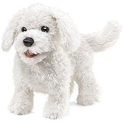 Folkmanis Maltese Dog Hand Puppet