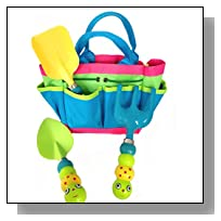 Kids Garden Tool Set with Tote , Tools Handles Made As