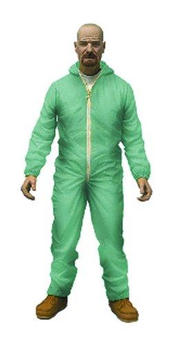 "Mezco Toys Breaking Bad: Green Haz-Mat Suit Walter 6"" Figure, White"