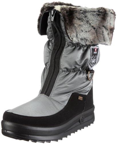 Rieker Hera Y7482-00, Damen Stiefel, Grau (schwarz/grau/granit 00), EU 40