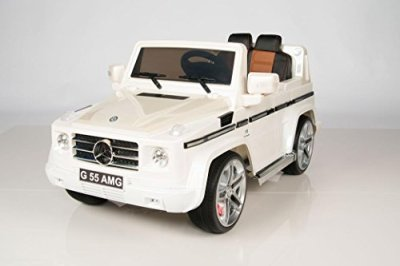 Licensed-2015-Model-12V-Mercedes-G55-Premium-Ride-On-SUV-With-Bluetooth-Remote-MP3-input
