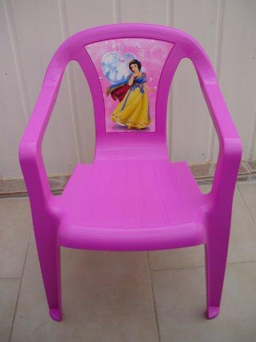 Vollkunststoff Kinderstuhl Stapelsessel Pink mit Disney Prinzessin