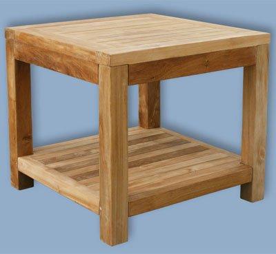 Beistelltisch mit Ablage / Teak / Teaktisch / Tisch