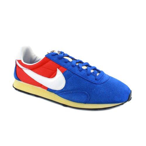 Nike Pre Montreal Racer Vintage 476717 400 Herren Laced Wildleder & Nylon Sneakers Blau weiß rot - 9