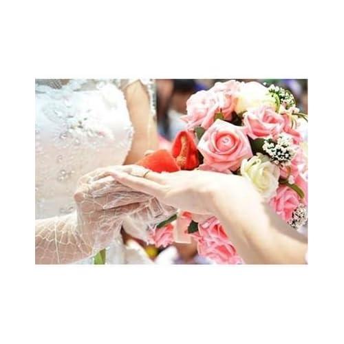 [Neustadt] ウェディングブーケに バラ 造花の ブーケ (ホワイト×ピンク)