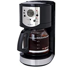 Mr. Coffee CJX21CP 12-Cup Programmable Coffeemaker Black