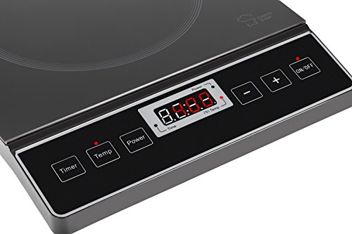 ... Chefs Star 1800W Portable Induction Cooktop Countertop Burner Black  Digital Display