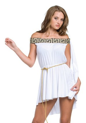 Sexy Greek Goddess Pleated Mini Dress