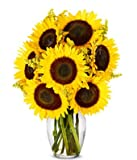 From You Flowers - Stunning Sunflowers (Free Vase Included)