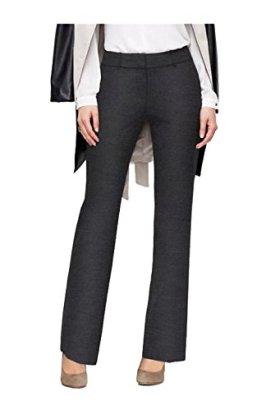 2LUV-Womens-Boot-Cut-Formal-Performance-Uniform-Dress-Pants-Heather-Dark-Gray-M-YDP1