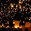 Magic Star - Traditional Chinese Sky Lantern for Love - Mixed  Colour 5 pack