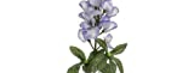 18″ Silk Bluebonnet Flower Spray -Purple/Blue (case of 12)