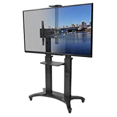 Kanto MTMA80PL Mobile TV Stand for 55-80 inch Flat Screen Displays, Universal, Keyboard Tray and Top Shelf