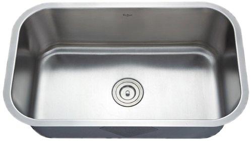 sale kraus 31 12 inch undermount single bowl 16 gauge stainless steel kitchen sink reviews abletse4