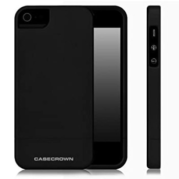 CaseCrown Lux Glider Case for Apple iPhone 5 - Black Obsidian