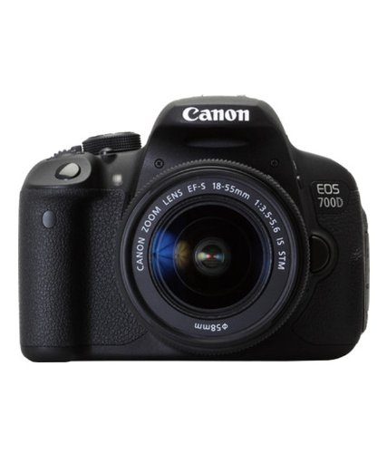 Canon EOS 700D Digital SLR Camera and 18-55mm EF-S IS STM Lens (Black) - International Version (No Warranty)