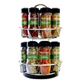 McCormick Gourmet Spice Rack, Two Tier Chrome, 16-Count