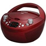 Coby CXCD251RED Portable CD Player with AM/FM Radio, Red for $19.98 + Shipping