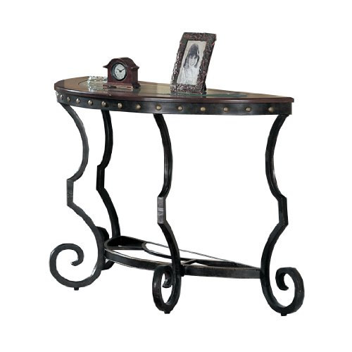 Buy Low Price Poundex Firebird Series Console Table Round